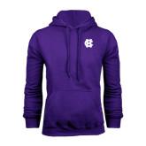Purple Fleece Hood-Interlocking HC