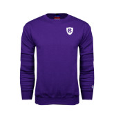 Purple Fleece Crew-HC Shield