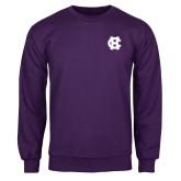 Purple Fleece Crew-Interlocking HC
