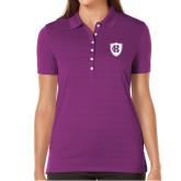 Ladies Callaway Opti Vent Purple Polo-HC Shield