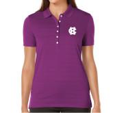 Ladies Callaway Opti Vent Purple Polo-Interlocking HC