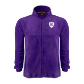 Fleece Full Zip Purple Jacket-HC Shield