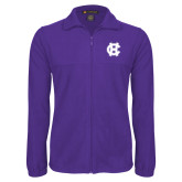 Fleece Full Zip Purple Jacket-Interlocking HC