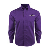 Red House Purple Long Sleeve Shirt-Official Logo