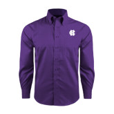 Red House Purple Long Sleeve Shirt-Interlocking HC