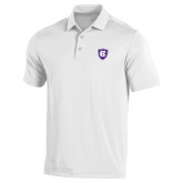Under Armour White Performance Polo-HC Shield