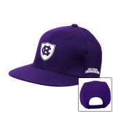Purple Twill Flat Bill Snapback Hat-HC Shield