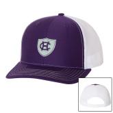 Richardson Purple/White Trucker Hat-HC Shield