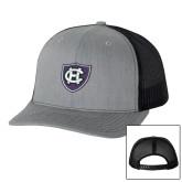 Richardson Heather Grey/Black Trucker Hat-HC Shield