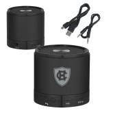 Wireless HD Bluetooth Black Round Speaker-HC Shield Engraved