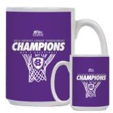 Full Color White Mug 15oz-2016 Patriot League Mens Champions Basketball