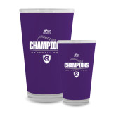 Full Color Glass 17oz-2017 Patriot League Mens Champions Baseball
