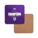 Hardboard Coaster w/Cork Backing-2017 Patriot League Mens Champions Baseball