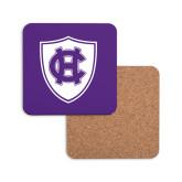 Hardboard Coaster w/Cork Backing-HC Shield