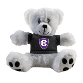 Plush Big Paw 8 1/2 inch White Bear w/Black Shirt-HC Shield