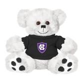 Plush Big Paw 8 1/2 inch White Bear w/Black Shirt-HC Shield
