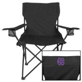 Deluxe Black Captains Chair-Interlocking HC
