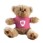 Plush Big Paw 8 1/2 inch Brown Bear w/Pink Shirt-HC Shield