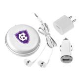 3 in 1 White Audio Travel Kit-HC Shield
