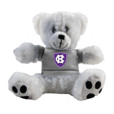 Plush Big Paw 8 1/2 inch White Bear w/Grey Shirt-HC Shield