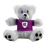 Plush Big Paw 8 1/2 inch White Bear w/Purple Shirt-HC Shield