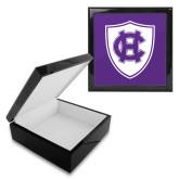 Ebony Black Accessory Box With 6 x 6 Tile-HC Shield