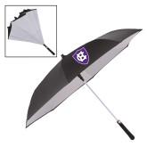 48 Inch Auto Open Black/White Inversion Umbrella-HC Shield