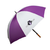 64 Inch Purple/White Umbrella-Official Logo