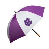 64 Inch Purple/White Umbrella-Interlocking HC