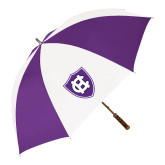 64 Inch Purple/White Umbrella-HC Shield