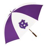 64 Inch Purple/White Umbrella-Interlocking HC