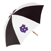62 Inch Black/White Umbrella-Interlocking HC
