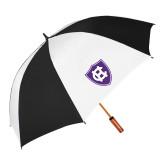 62 Inch Black/White Vented Umbrella-HC Shield