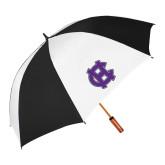 62 Inch Black/White Vented Umbrella-Interlocking HC