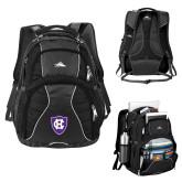 High Sierra Swerve Black Compu Backpack-HC Shield