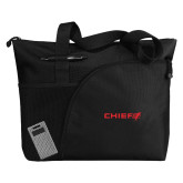 Excel Black Sport Utility Tote-Chief - Primary Logo
