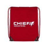 Red Drawstring Backpack-Chief Industries