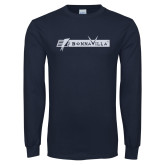 Navy Long Sleeve T Shirt-BonnaVilla