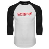 White/Black Raglan Baseball T Shirt-Chief Industries