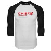 White/Black Raglan Baseball T Shirt-Chief Industries - Tag Line