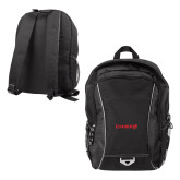 Atlas Black Computer Backpack-Chief - Primary Logo