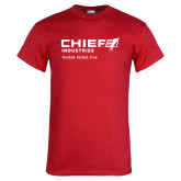 Red T Shirt-Chief Industries - Tag Line