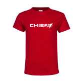Youth Red T Shirt-Chief - Primary Logo