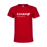 Youth Red T Shirt-Chief - Primary Mark Tagline