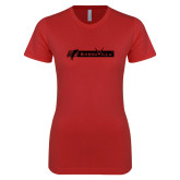 Next Level Ladies SoftStyle Junior Fitted Red Tee-BonnaVilla