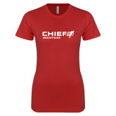 Next Level Ladies SoftStyle Junior Fitted Red Tee-Chief Industries