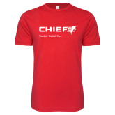 Next Level SoftStyle Red T Shirt-Chief - Primary Mark Tagline