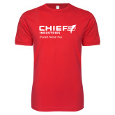 Next Level SoftStyle Red T Shirt-Chief Industries - Tag Line