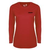 Ladies Syntrel Performance Red Longsleeve Shirt-BonnaVilla