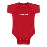 Red Infant Onesie-Chief - Primary Logo